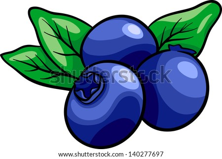 Cartoon Vector Illustration of Blueberry Fruits Food Object