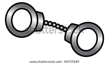 cartoon vector illustration police handcuffs