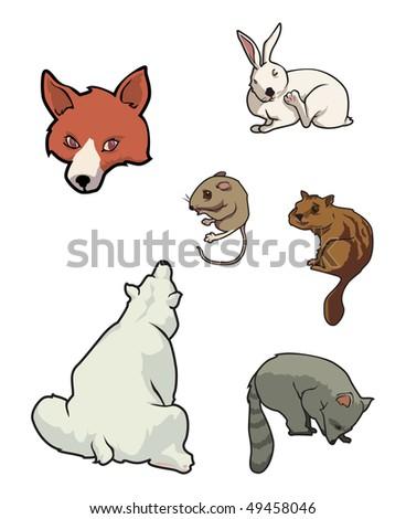 cartoon vector illustration zoo mammals