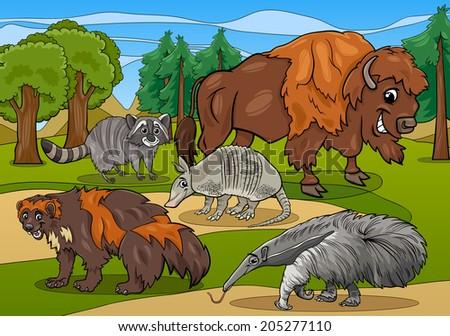 cartoon vector illustrations of