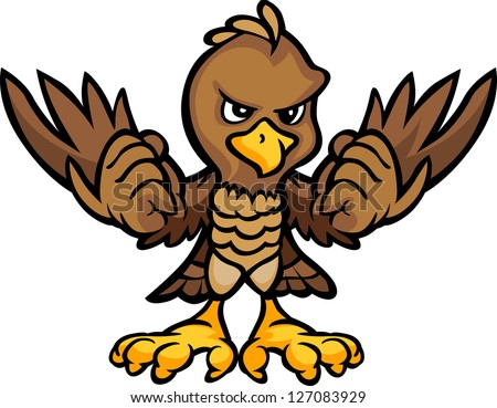 Cartoon Vector Image of an Eagle or Falcon Body