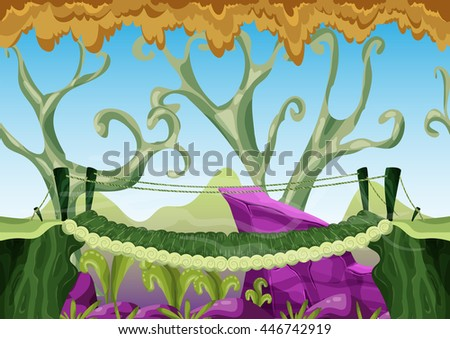 cartoon vector landscape with