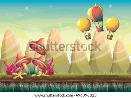cartoon vector nature landscape