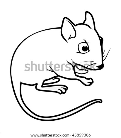 Mouse Outline Drawing Outline Illustration Mouse