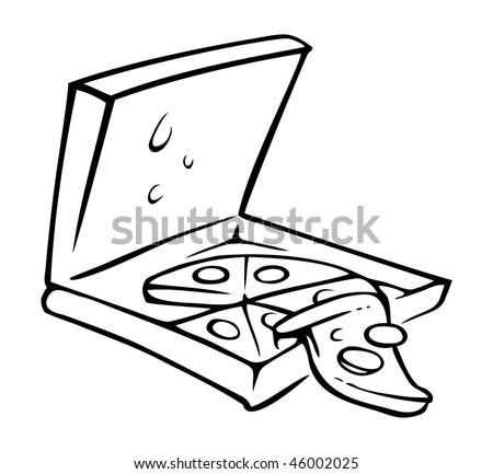 Black and White Pizza Slice