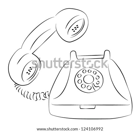 how to draw the first telephone