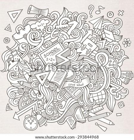cartoon vector sketchy doodles
