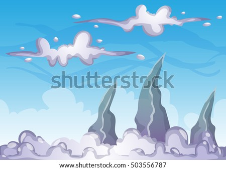 cartoon vector sky background