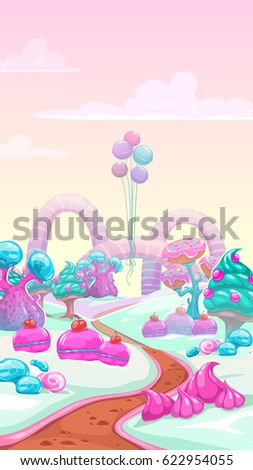 cartoon vector sweet landscape