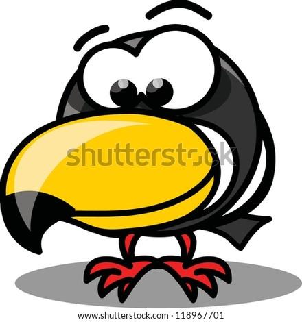 Cartoon vector toucan