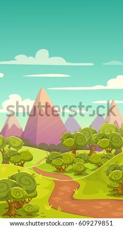 cartoon vertical nature