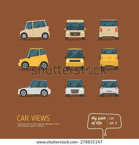 cartoon views car set
