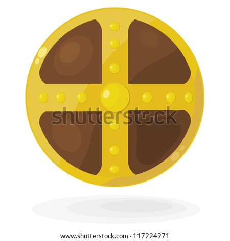 Cartoon Viking shield. eps10 - stock vector