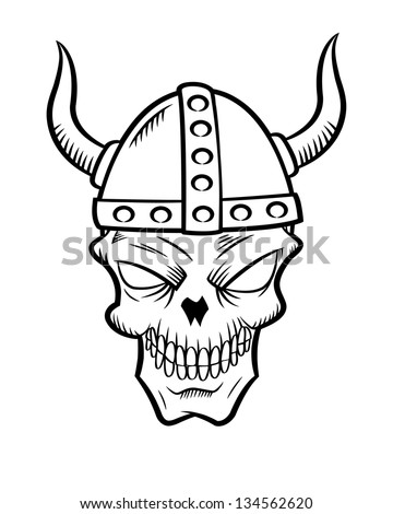 Royalty Free Viking Icon With Skulls In Vintage 429654427 Stock