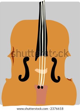 Cartoon violin musical instrument vector illustration symphony