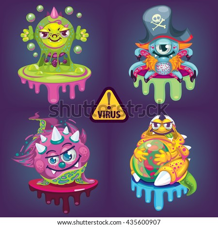 cartoon virus set