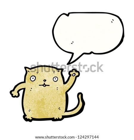 cartoon waving cat
