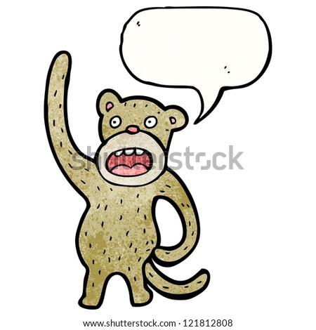 cartoon waving monkey