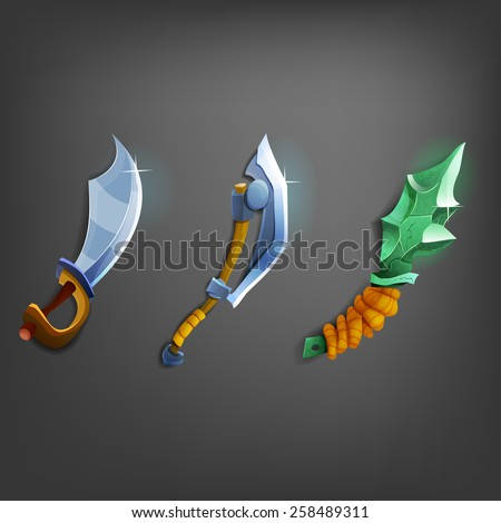 cartoon weapons for games