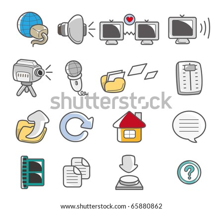 cartoon web icon - stock vector