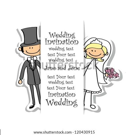 Shutterstock Cartoon wedding picture