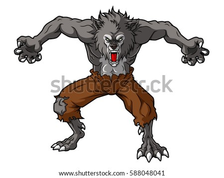 cartoon werewolf