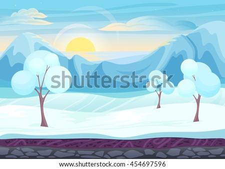 cartoon winter game style