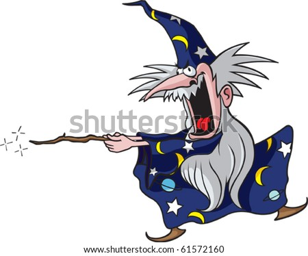Cartoon Wizard. Vector file available.