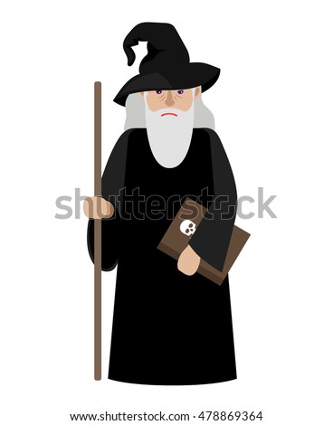 cartoon wizard vector
