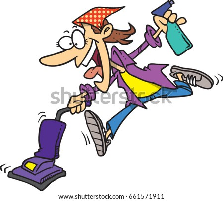 free cartoon cleaning lady vector rh vecteezy com clip art cleaning service clip art cleaning closet