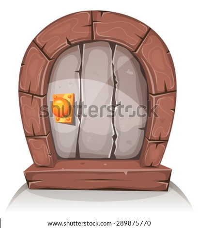 cartoon wooden and stone hobbit