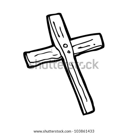 Cross Cartoon Drawing Cartoon Wooden Cross