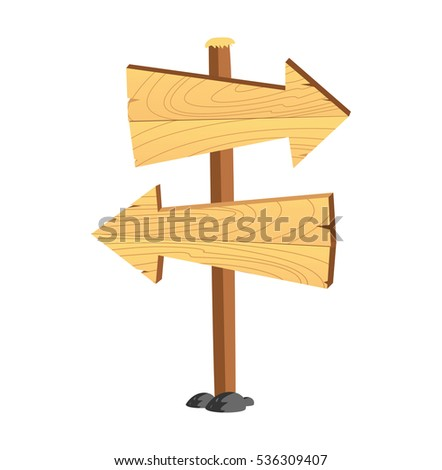 Cartoon wooden signboard  isolated on white background #536309407