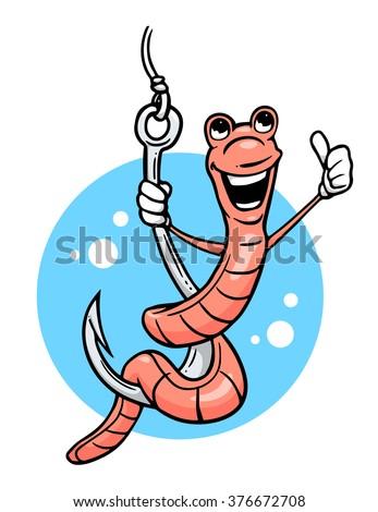 cartoon worm giving thumb up on