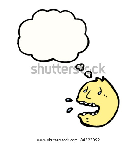 cartoon worried emoticon face