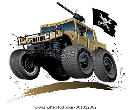cartoon 4x4 vehicle available