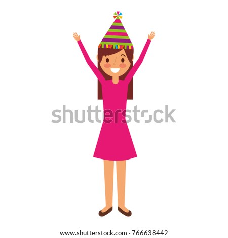 cartoon young girl standing