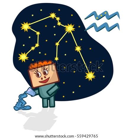 cartoon zodiac signs vector