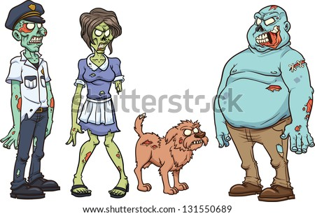 cartoon zombie characters