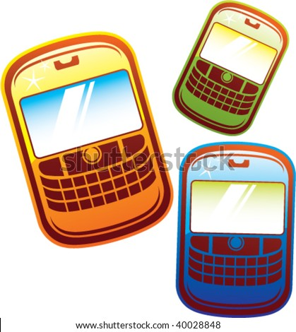 cartoonish cellphones vector