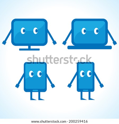 cartoonish gadget designs stock