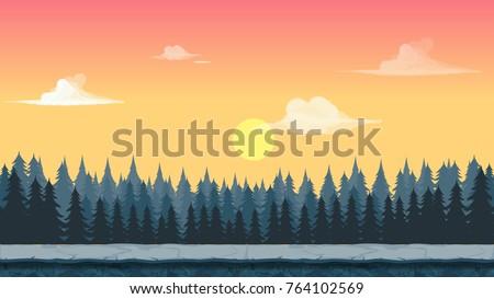 cartoonish game forest