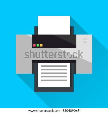 Cartridge Printer. Flat design. Vector illustration.
