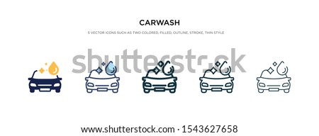 carwash icon in different style vector illustration. two colored and black carwash vector icons designed in filled, outline, line and stroke style can be used for web, mobile, ui