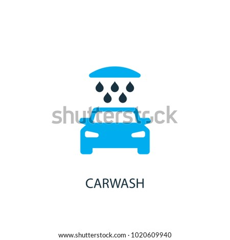 Carwash icon. Logo element illustration. Carwash symbol design from 2 colored collection. Simple Carwash concept. Can be used in web and mobile.