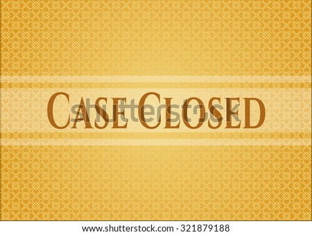 Case Closed banner or card