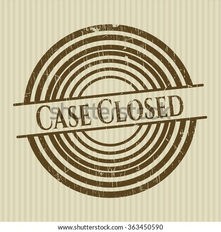 Case Closed rubber grunge seal