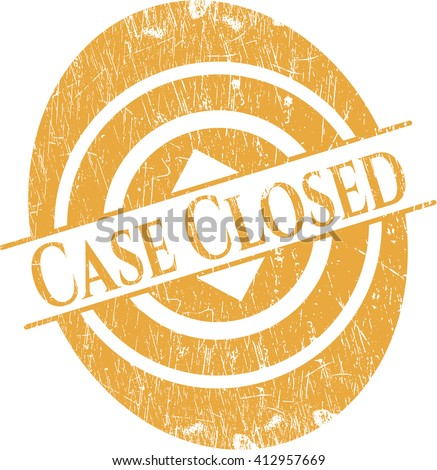 Case Closed rubber stamp