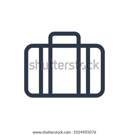 Case icon. Isolated suitcase and case icon line style. Premium quality vector symbol drawing concept for your logo web mobile app UI design.