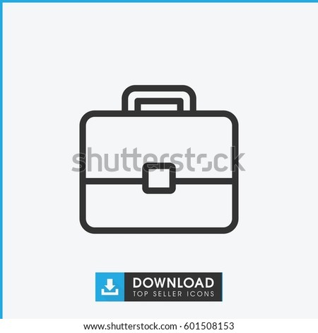 case icon. simple outline case vector icon. on white background.